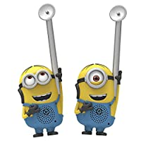 Minions  小黄人 神偷奶爸 eye-conic FRS 长距离静电免费易于使用耐用儿童环保 Dave 和 Stuart 人物对讲机