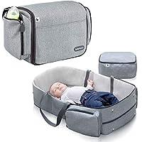 Babymoov Travelnest 舒适便携式摇篮 | 3 合 1 旅行婴儿床,换尿布台和尿布包
