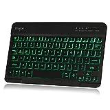 德国Leicke莱克 无线蓝牙键盘 三色背光键盘 平板电脑键盘 时尚纤薄设计 适用于苹果系统、微软系统、安卓系统 (背光款)