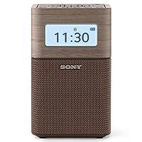 Sony 索尼 SRF-V1BT/TC CN4 闹钟蓝牙音箱兼FM/AM收音机 棕色