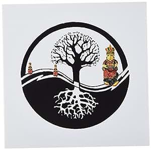 SmudgeArt 中国新年设计 - 阴阳树 - 白色 - 贺卡 Set of 6 Greeting Cards