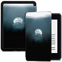 BOZHUORUI 全新 Kindle Paperwhite eReader 保护套(* 10 代,2018 年发布型号 PQ94WIF) - 软壳防摔保护套带自动休眠/唤醒功能 水母