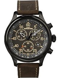 TIMEX 天美时 美国品牌 户外多功能计时系列 石英手表 男士腕表 T49905(多功能计时小表盘 精确到1/20秒 真皮表带)