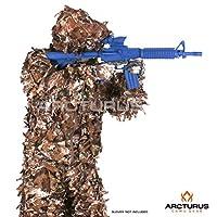 Arcturus 3D 叶吉利套装 - 高级*轻质迷彩,适合军事行动、打猎、彩弹、软弹枪和摄影。 包括裤子、夹克和兜帽。