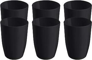 Coza 耐用塑料杯 黑色 6 件套 10202/3008