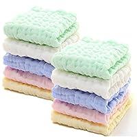 MUKIN 毛巾,婴儿棉湿巾,适合敏感皮肤的柔软新生儿婴儿面巾,婴儿淋浴礼物