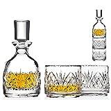 Godinger Stackable 威士忌*器和威斯基玻璃都柏林 3 件套,适用于*店 Scotch 波本*店或*店