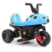 HAPPYBRAND儿童电动车 电动摩托车 小孩电动三轮车玩具车 宝宝童车可坐8918 (蓝)