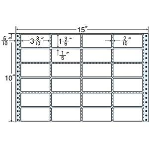 东洋印刷 褶皱泡沫标签 15英寸×10英寸 M15JS 24面付