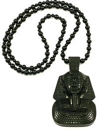 GWOOD 法老 Homica 实心塑料吊坠 埃及制造 88.9 cm 串珠项链