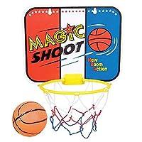 ArtCreativity 儿童魔法射击迷你篮球游戏,包括 1 个迷你球,1 个篮板网和悬挂贴纸,室内篮球套装,适用于家庭、办公室、卧室,男孩和女孩的*佳礼物