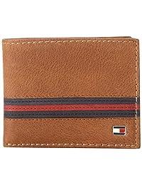 Tommy Hilfiger Yale 两折钱夹(名片夹可拆卸) 水牛皮 SADDLE TAN/鞍棕色 31TL22X054 (美国品牌)