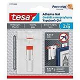 Tesa 77777-00002-00 壁纸上挂的可拆卸可调节粘合*,白色