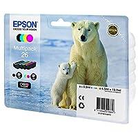 Epson爱普生 T2616 墨盒 北极熊 Multipack (Schwarz,Cyan, Magenta,Gelb)