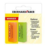 Eberhard Faber 585494 橡皮擦 Winner 荧光色 2 件装