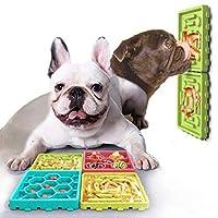 3T6B 狗慢速喂食器,多功能宠物慢速喂食器狗迷宫拼图食品分配器碗