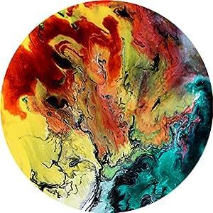 陶瓷杯垫 4 件套,冷水饮料吸水石杯垫 咖啡杯杯垫垫 Artifical Painting Marble