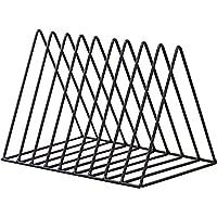 文件夹杂志夹三角形钢制报纸夹杂志存放 10 个部分适用于办公室家居装饰,黑色 Cq acrylic 出品