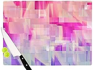 """Kess InHouse Gabriela Fuente """"冬季流动""""砧板,粉色 粉红色 11.5 by 8.25-Inch GF1024ACB01"""