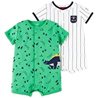 Carter's 男嬰 2 件裝卡扣連體衣 Dino/Mvp 18 Months