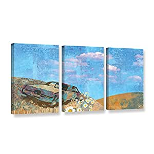 ArtWall 3 Piece Greg Simanson's Rusted Gallery Wrapped Canvas Set, 36 x 72""