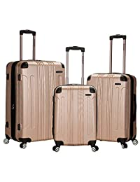 Rockland Luggage 3 Piece Sonic Upright Set 香槟色 均码