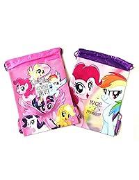 2 件 Disney My Little Pony 友谊永远拉绳背包吊带健身袋