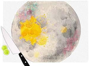 "KESS InHouse OC1066ACB01 Oriana Cordero ""月光""灰色黄色切割板,多色 多种颜色 11.5 x 8.25"" OC1066ACB01"