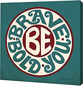 "PrintArt GW-POD-65-SB318-16x16""Be You"" 由 Susan Ball Gallery Wrapped Giclee 油画艺术印刷品 20"" x 20"" GW-POD-65-SB318-20x20"