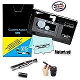 机动 VHS-C 盒式插座适配器 JVC C-P7U CP6BKU C-P6U,松下 PV-P1,RCA VCA115 + 镜头清洁器 + 1 VCC113 微纤维布