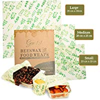 Gen 1:1 蜂蜡可重复使用环保可生物降解食品包装蜂蜡食品包装环保厨房产品3件装