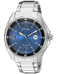 "Citizen 男士""驱动""石英不锈钢休闲手表,颜色:银色调(型号:AW1510-54L)"