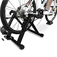 BalanceFrom Bike Trainer Stand 钢制自行车运动磁性支架带前轮升降块