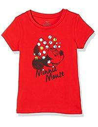 Disney 迪士尼童装 女童 针织短袖T恤 KVM8M2KTKG2517RR