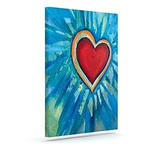 "Kess InHouse Padgett Mason""Love Shines On""户外帆布墙艺术 16"" x 20"" PM2008AAC03"