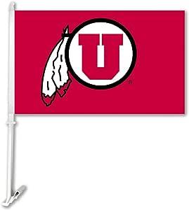 NCAA 路易斯安娜·拉菲耶特插肩式Cajuns 汽车旗帜带壁支架,迷彩