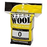 Red Devil 0323 8-Pack Steel Wool, 0 Fine