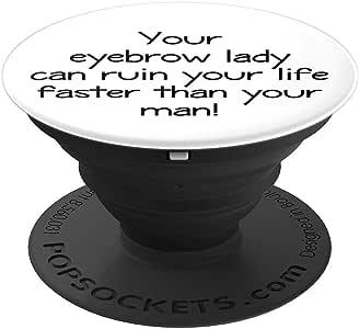 Brow lady - PopSockets 手机和平板电脑抓握支架260027  黑色