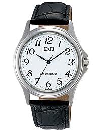 [西铁城 Q&Q]CITIZEN Q&Q 手表 不锈钢款 指针式 皮带 10个大气压防水 白色 W378-304 男式