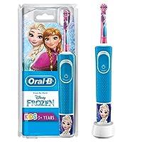 Oral-B 歐樂B 兒童電動牙刷 迪士尼 冰雪奇緣圖案,帶貼紙,適合3歲以上兒童