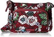 Vera Bradley Iconic RFID Little Hipster, Signature Cotton, Bordeaux Blooms