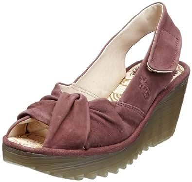 FLY LONDON yakin ,女式坡跟凉鞋 紫色 8 UK