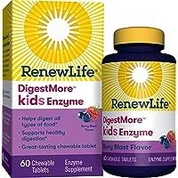 Renew Life - Digest Smart Kids Enzyme - *支持 - 植物基酶 - 60 片可咀嚼浆果味片