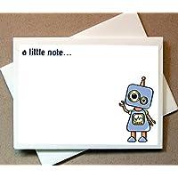机器人便笺卡片(24 张非折叠卡片和信封)