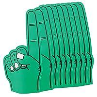 eBuyGB 尖头大号泡沫手指指针 EVA 动画手掌适用于足球节日音乐会 体育活动 - 适合印刷,男式 Adult Pack of 10 *