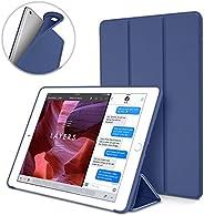 S-Tech iPad 10.2 保护套 2019 iPad * 7 代保护套,超薄支架软后壳保护智能保护套适用于 iPad 7 代 10.2 英寸 2019 (A2197 A2198 A2200)(蓝色)