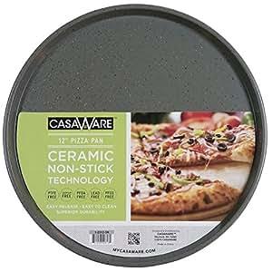 casaWare 烤箱披萨/烘焙平底锅 12 英寸 银色花岗岩 1-2312-5K