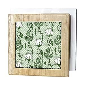 3dRose nh_220798_1 餐巾架,白色/绿色,15.24 cm