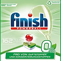 Finish 亮碟 0% 洗碗机专用洗涤块, 洁净功效出色,不含香精和防腐剂,超大包装,162个装