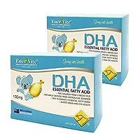 EnerVite 澳乐维他 儿童海藻油DHA软胶囊 100mg/粒 60粒*2盒 儿童dha 鱼油 益智健脑